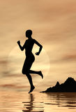 Jogging at sunrise Royalty Free Stock Photo
