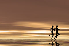 Jogging at sunrise Royalty Free Stock Images