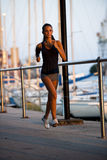 Jogging at sunset Royalty Free Stock Photography