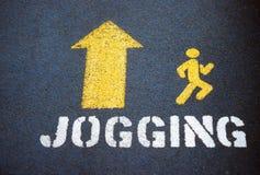 Jogging symbol. Royalty Free Stock Image