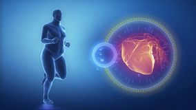 With jogging to healthy heart  stock video footage