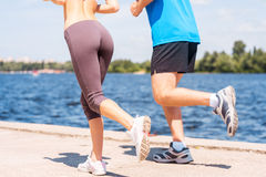 Jogging together. Stock Photography