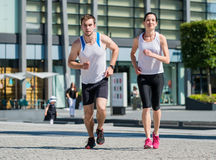 Jogging together Royalty Free Stock Photos