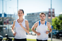 Jogging together Stock Photo
