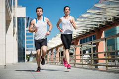 Jogging together Royalty Free Stock Image