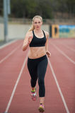 Jogging on the track Royalty Free Stock Images