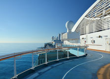 Jogging track on cruise ship Royalty Free Stock Images