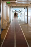 Jogging track on a cruise ship. This is a jogging/walking track on a cruise ship Stock Images