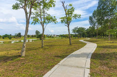 Jogging track at garden Royalty Free Stock Images