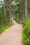 Jogging track mountain landscape Royalty Free Stock Images