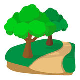 Jogging track in the park cartoon icon Stock Photography