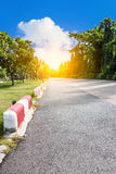 Jogging track at public park Stock Photography