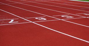 Jogging track surface Stock Photo