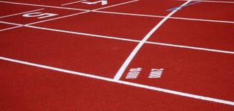 Jogging track surface Stock Photos