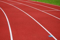 Jogging track surface Stock Images