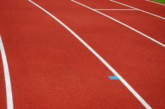 Jogging track surface Royalty Free Stock Photos