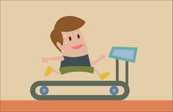 Jogging on Treadmill Royalty Free Stock Photography