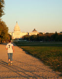 Jogging in Washington DC Royalty Free Stock Photo
