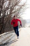 Jogging in winter Stock Image