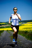 Jogging woman Royalty Free Stock Photos