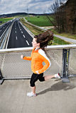Jogging woman Stock Images