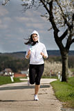 Jogging woman Stock Photos
