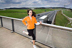 Jogging woman Royalty Free Stock Images