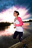 Jogging woman Stock Photo