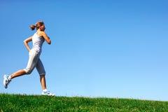 Jogging woman. stock photos