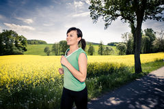 Jogging woman Stock Photography