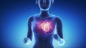 Jogging woman with heart scan in slow motion stock footage