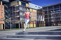 Jogging woman Stock Photography