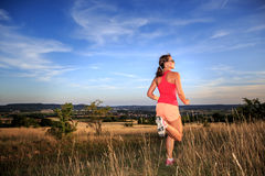 The jogging woman Stock Photography
