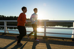 Jogging women Stock Images