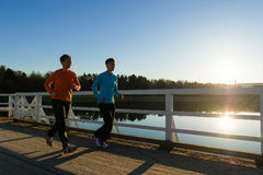 Jogging women Stock Image