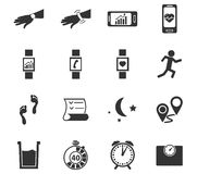 Jogging and workout icons set. Jogging and workout simply icons for web and user interfaces Royalty Free Stock Photography