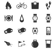 Jogging and workout icons set Royalty Free Stock Photography