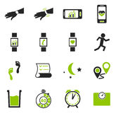 Jogging and workout icons set Royalty Free Stock Photo