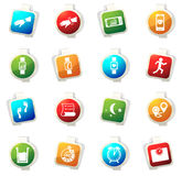 Jogging and workout icons set Royalty Free Stock Image