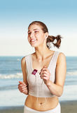 Jogging young woman Stock Photos
