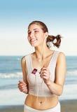 Jogging young woman Stock Photos