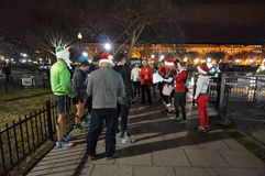Jogginggroep bij de Ellips royalty-vrije stock afbeelding