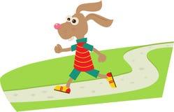 Joggingkonijntje stock illustratie