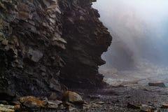 Joggings Fossil, Nova Scotia, Canada. Bay of Fundy, Nova Scotia, Canada. The highest tide in the world stock images