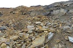 Joggins Fossil Cliffs, Nova Scotia, Canada. Joggins Fossil Cliffs is a UNESCO Natural World Heritage Site since 2008, Nova Scotia, Canada. The cliffs is famous stock photo