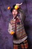 joggling för clown Arkivfoton