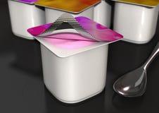 Joghurt Stockfoto