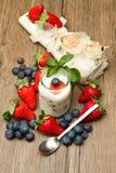 Joghurt mit berrie stockfotografie
