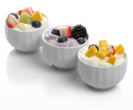 Joghurt mit Früchten stockbild