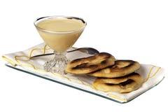 Joghurt und weiche Tortillas Stockbilder